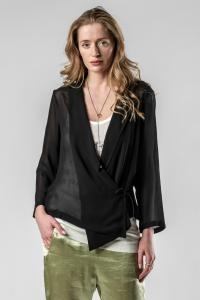 Ann Demeulemeester TOP MCLOTTIE BLACK