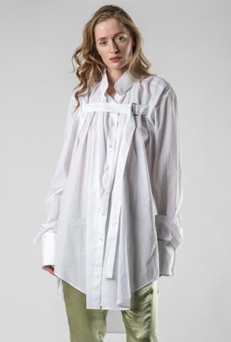 Ann Demeulemeester SHIRT COTONE WHITE + RIGATINO