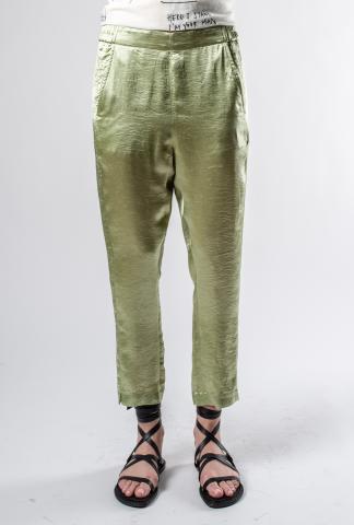 Ann Demeulemeester Slim Cropped Elastic waist Pants (Lambeth/Sage)