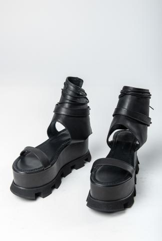 Nostrasantissima Tractor Sole Platform Laced Sandals