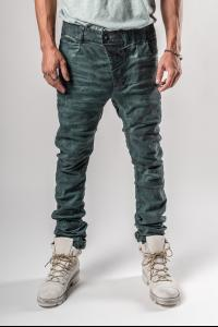 Boris Bidjan Saberi P13TF Patina Blue Curved Jeans