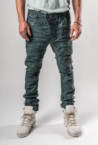 Boris Bidjan Saberi P13TF Patina Blue Curved Jeans