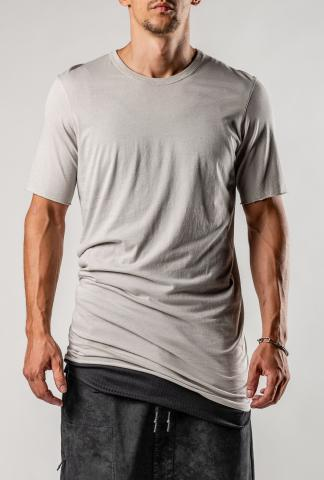 11byBBS F-1101 LIGHT GREY DYE T-SHIRT