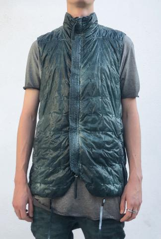 Boris Bidjan Saberi PADDED VEST 5 Patina Blue Zip