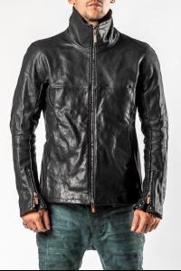 Ierib High Neck Vintage Hardware Leather Jacket