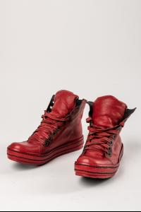 James Kearns Red 9Hole Kangaroo Leather Sneakers