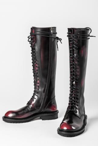 Ann Demeulemeester Tall Combat Boots (Abrasivato)