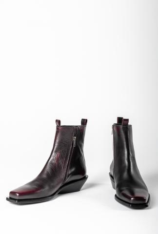 Ann Demeulemeester Ankle Boots (Asportabile Nero/Bordeaux)