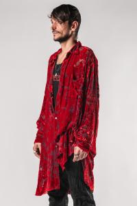 Ann Demeulemeester Over Sized Semi-sheer Shirt (Elma Red)