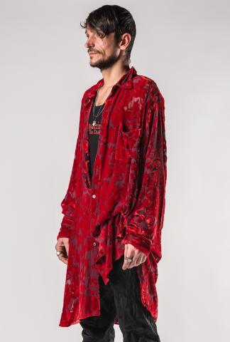 Ann Demeulemeester Over Sized Semi-sheer Shirt (Elma Red)