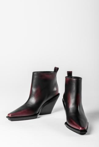 Ann Demeulemeester Wedge Heels (Asportabile Nero/Bordeaux)