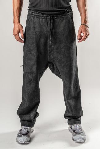 11byBBS P24 Black Dye Loose Joggers