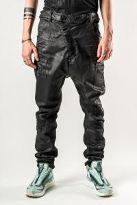 11byBBS Dye Blasted P4B baggy Jeans with Buckle