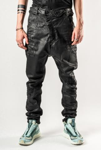 11byBBS P4B Dye Blasted baggy Jeans with Buckle