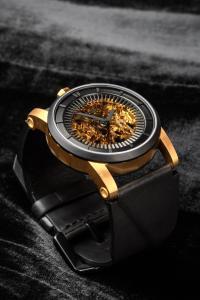FOB Paris  Rehab 413 Gold Black Vacchetta leather