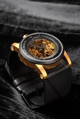 FOB Paris Rehab 413 Exposed Skeleton Watch with Vachetta Calf Leather Strap