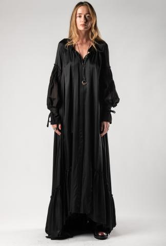 Ann Demeulemeester Long Draped Shirt-Dress (Nanette + Tiriel)