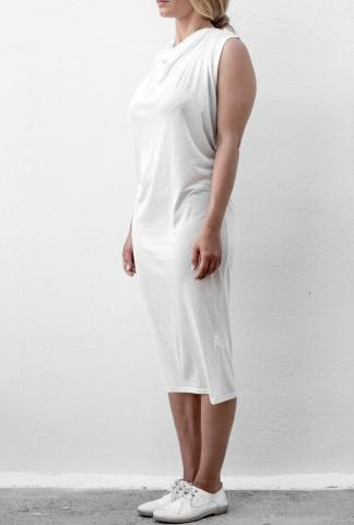 Isabel Benenato Jersey knit dress white