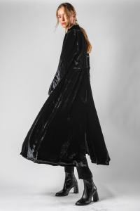 Andrea Ya'aqov Velour Long Coat