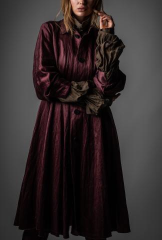 Phaédo Studios Silk Blend Pleated Coat