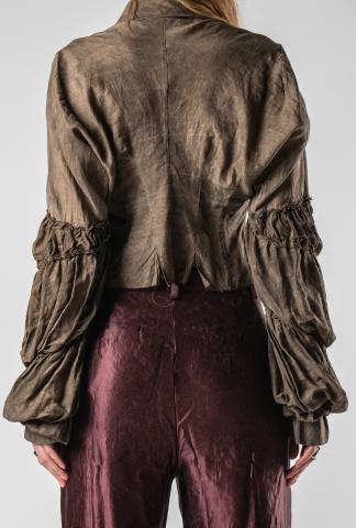 Phaédo Studios Silk Blend Draped Elongated Button-up Shirt