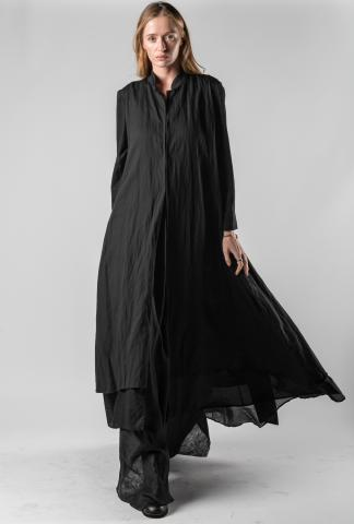 Un-Namable Hook Closure Layered Long Coat
