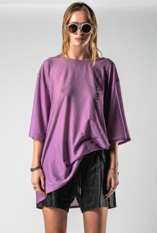 "Barbara Bologna ""Please Smile"" Print Loose T-shirt"