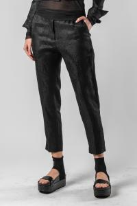 Isabel Benenato Jackard slim cropped pants