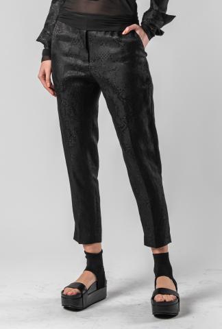 Isabel Benenato Jackard slim cropped pants