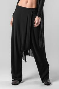 Pal Offner Fold Over Loose Low-crotch Trousers