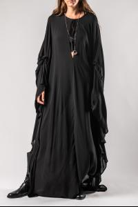 Ann Demeulemeester Long Draped Dress (Ewing Black)