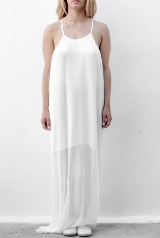 Isabel Benenato Woven slip dress