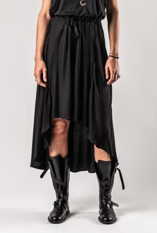 Ann Demeulemeester Open Front Skirt (Infinity Black)