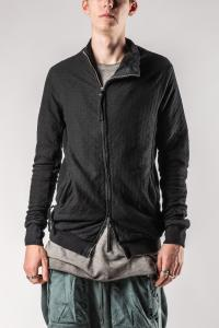 Boris Bidjan Saberi ZIPPER1 Black Textured Hoodie