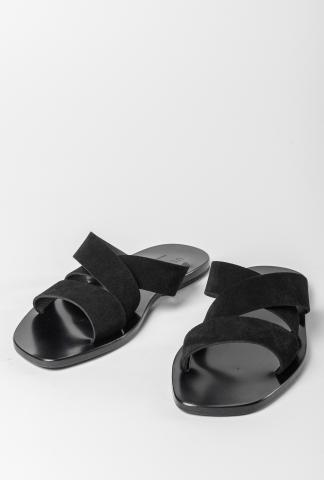 Ulysses by Dimissianos & Miller Crossed Strap Leather Sandals