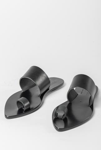Ulysses by Dimissianos & Miller Toe Ring Pointy Leather Sandals