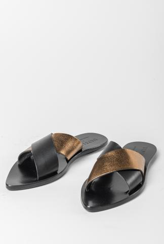 Ulysses by Dimissianos & Miller Crossed Straps Leather Sandals