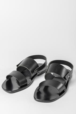 Ulysses by Dimissianos & Miller Two Strap Leather Sandals with Back Strap
