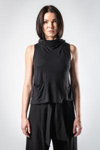 Lurdes Bergada Draped Cowl Neck Tank Top