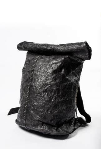 Isaac Sellam Stapled Metal Structured Leather Backpack