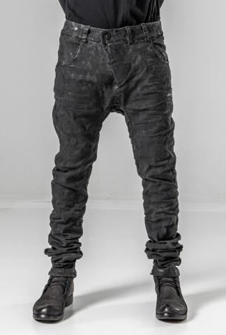 Boris Bidjan Saberi P13HS TF Hand-Stitched Vinyl Processed Jeans