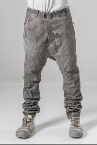Boris Bidjan Saberi P23 Vinyl Processed Baggy Low-crotch Jeans