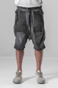 Boris Bidjan Saberi P27 Cold Dyed Adjustable Low-crotch Shorts
