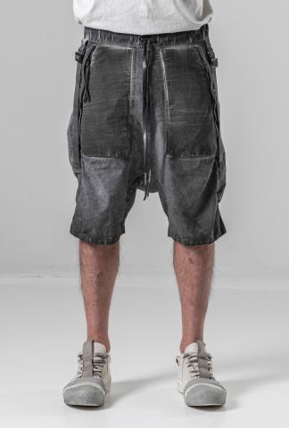 Boris Bidjan Saberi P27 Cold Dyed Adjustable Low-crotch Shorts