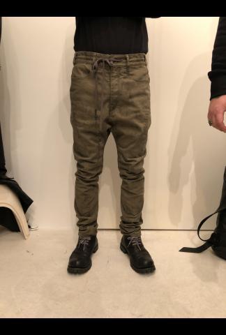 Stone dyed deep crotch curve pants
