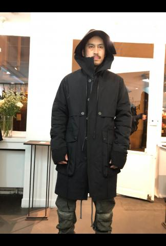 A.F. Artefact Long Parka with detachable inner Jacket