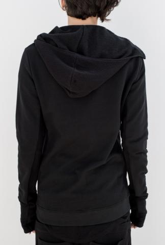 Andrea Ya'aqov Double zip front hooded sweater