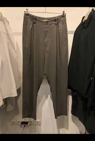 Buttoned Low Crotch Loose Trousers