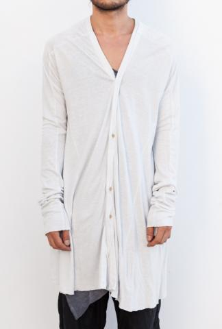 MA_Julius 460CUM5 Elongated V-neck Buttoned Cardigan