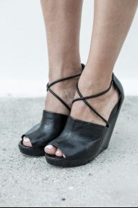 Marsell Black colour wedge open toe shoe